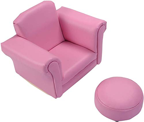 DKEE Silla de Juego Compra de los niños del sofá, Sillón de Estar Butaca de Juego Relax Sala de Juegos monoplaza, niños Mecedora con reposapiés