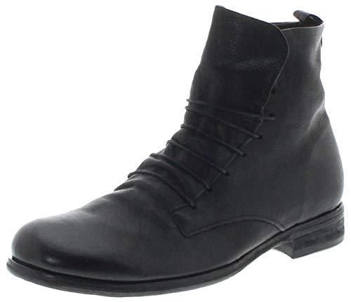 FB Fashion Boots Herren Schuhe 328205 Nero Lederstiefelette Schnürschuhe Schwarz inkl. Schuhdeo 46 EU