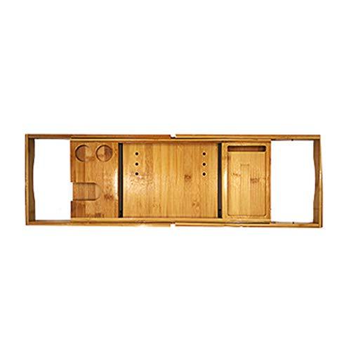 Soporte para bañera Soporte de Almacenamiento Multifuncional para bañera Rack de baño retráctil Antideslizante de bambú