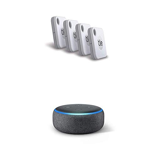 Tile Mate (2020) - 4-PackEcho Dot (3rd Gen) with Amazon Smart Speaker with Alexa