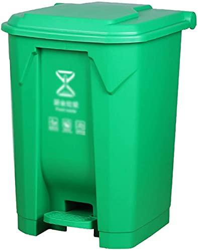 LSNLNN Papelera de Basura, Contenedores de Reciclaje de Basura de Plástico, 4 Colores Pedal Tipo Dustbin Home Kitchen Hotel Multifuncional Basura Papelera de Alenamiento, 45L,a,45L