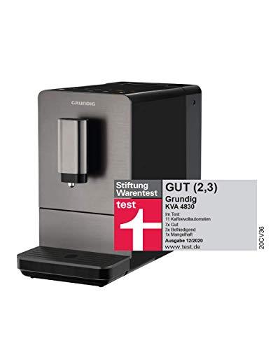 Grundig KVA 4830 Kaffeevollautomat, Edelstahlfront, Dark Inox/Schwarz