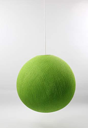 Cotton Ball Lights Lampe suspension 31 cm, coton, vert clair