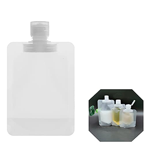 20PCS Portable Travel Fluid Makeup Packing Bag,Fluid Makeup Packing Bag,Transparent Clamshell Packaging Bag,Travel Size Toiletries Containers (100ML)