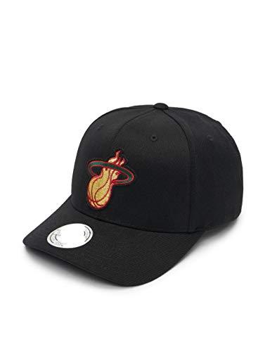 Mitchell & Ness Miami Heat Snapback Cap - Luxe 110 - Schwarz - Einstellbar