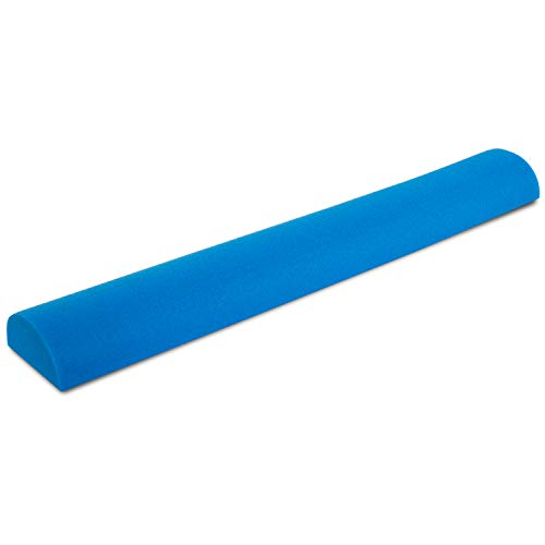 "Prosource Fit Flex Foam  Half-Round Rollers 36"" for Muscle Massage, Physical Therapy, Core & Balance Exercises Stabilization, Pilates, Blue"