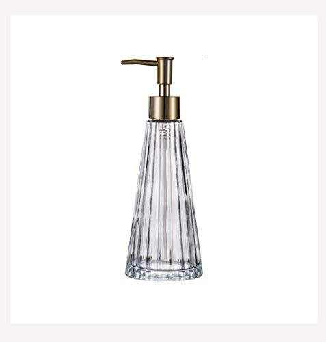 Dispensador de jabón Botella de loción de vidrio con forma de paraguas de lujo de estilo nórdico Botella de botella de botella de la mano de la mano del hogar Botella de gel de ducha Sub-embotellado D