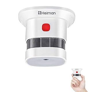 scheda heiman sensore fumo mini rilevatore di fumo da 10 anni allarme fumo con sensore fotoelettrico indipendente en14604 con certificazione ce (1 pezzi)