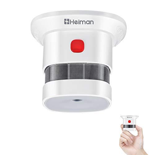 HEIMAN Rauchmelder Mini Feuermelder mit 10 Jahren Batterielaufzeit TÜV und EN14604 Zertifizierter Rauchwarnmelder mit Feueralarm und Fotoelektrischem Sensor (1er Set)