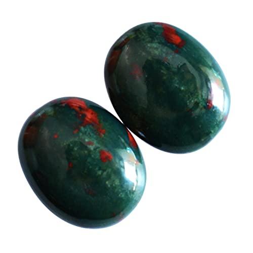 Bonito aspecto natural rojo verde Bloodstone par cabujón, forma ovalada, tamaño 19x15x5 MM, piedra colgante, fabricación de joyas, piedra de sangre proveedores,24165