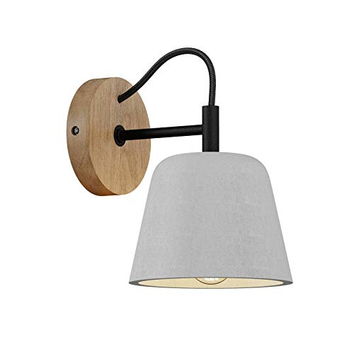 Lámpara de pared 'Kalinda' (Escandinavo) en Gris e.o. para Salón & Comedor (1 llama, E14, A++) de Lucande   aplique