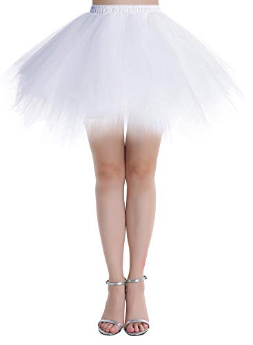Dressystar DSP0005 Minirock Kurz Unterrock Tutu Unregelmäßig Tüll Damen Mädchen Ballettrock Multi-Schichten Beige S