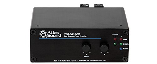 Best Prices! Atlas Sound TSD-PA122G Two Channel Power Amplifier 12W x 2 @ 4Ω