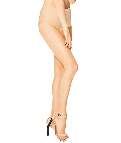 DKNY Damen Beyond Nudes Toeless Control Top Strümpfe, Mode Beige, Medium