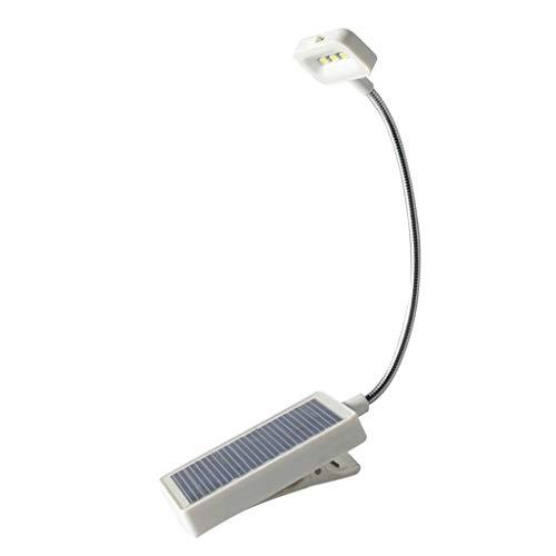 perfeclan LED Solar Klemmleuchte Klemmlampe Schreibtischlampe Leselampe mit Flexibel Schwanenhals für Nacht Lesen, Schlafzimmer, Kinderzimmer, Büro