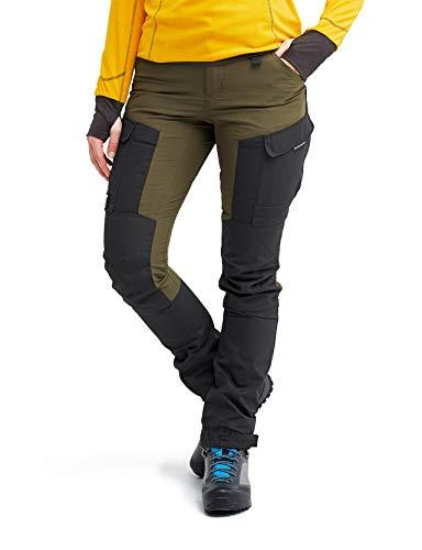RevolutionRace Damen GPX Pants, Hose zum Wandern und für viele Outdoor-Aktivitäten, Dark Olive, 40
