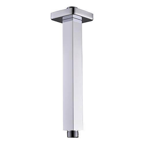 SR SUN RISE 7.9 Inch Ceiling Mounted Shower Arm Square Arm of Solid Brass Brushed Nickel 200 mm