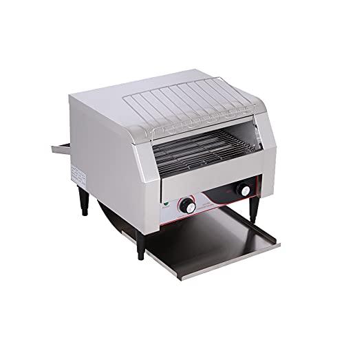 Tostadora transportadora comercial, tostadora transportadora eléctrica, tostadora de pan, tostadora de pan de acero inoxidable, 150/300/450 PCS