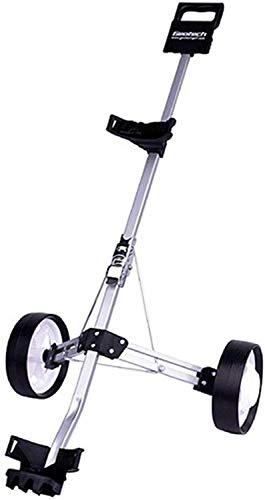 HY-WWK Robuster Und Leichter Golfwagen Schwenkbarer Faltbarer 2-Rad-Push-Pull-Cart Golfwagen Golf-Push-Cart