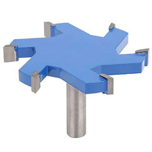 Broca de enrutador ranuradora en forma de T de 12 mm de vástago, 6 dientes, forma única Cortador de fresado para carpintería de acero robusto Herramienta de corte de madera, con diseño antirretroceso