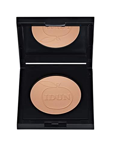 IDUN Minerals Finishing Pressed Powder, Makalos - Light Coverage, Mattifying Effect - Silky Velvet Finish - Enhances Foundation Coverage - 100% Vegan, Safe for Sensitive Skin - Light Brown, 0.12 oz