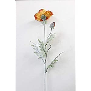 Artificial and Dried Flower Wall Materials Spring 2 Heads Poppy Wedding Silk Flower Christmas Party Home Decoration Artificial Flowers