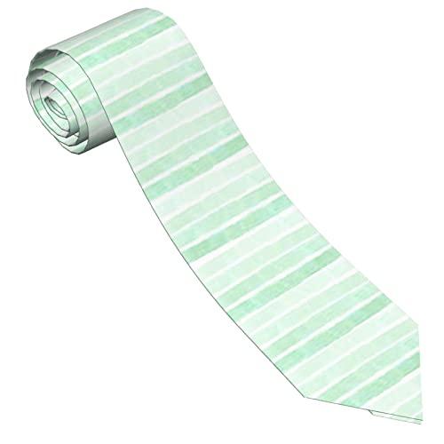 Gokruati Corbatas para hombre, Corbata delgada y elegante para hombre, Corbatas con estampado de elegancia clásica para bodas, Corbatas formales de negocios, Rayas horizontales verdes
