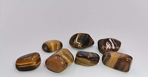 TENET - pietre levigate per Cristalloterapia e Reiki caricate con tecniche di Piramidologia - pietra singola 18-25 mm (Occhio di tigre)