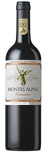 6x 0,75l - 2018er - Montes - Alpha - Carmenère - Valle de Colchagua - Chile - Rotwein trocken