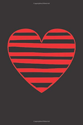 OFFICE ORGANIZER: Beautiful Red Stripped Heart in Black Cover- 120 Pages Large Print to Record/Track Tasks, Reminders, Meetings, Calls/Emails New Due Follow-Up and Notes