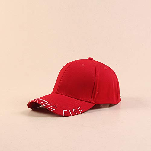 sdssup Damenhut, Buchstaben-Druck, Baseball-Kappe, japanisch, Literatur-Mütze, Sonnenblende, rot, M (56-58cm)