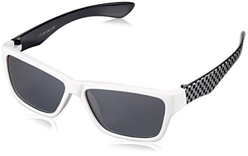 Dice D035899 Children's Sunglasses Shiny White Pink