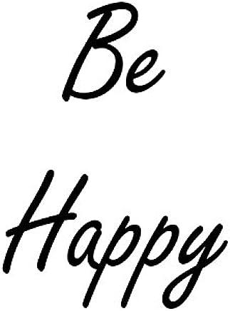 """Heartfelt Inspirations By Moana SS-HI-10003""""Be Happy"""" Paper Wall Prints"""
