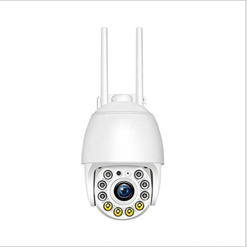 ABCD Cámara de vigilancia de Red 1080P, Monitor WiFi inalámbrico panorámico, cámara de vigilancia remota a Todo Color HD, Alarma de detección, monitoreo en Tiempo Real