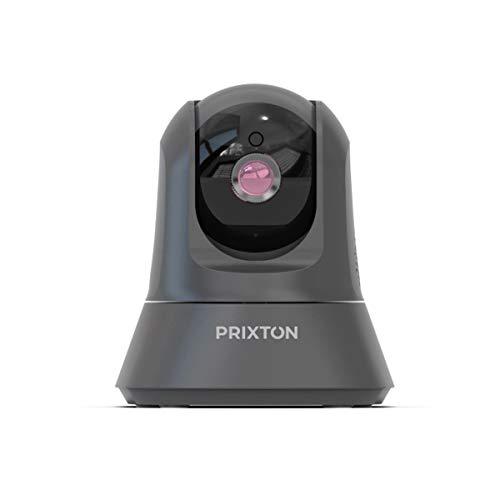 PRIXTON IP1080p - Cámara IP Full HD, Cámara de Vigilancia con WiFi y Visión Nocturna para Interior, Hogar, Tienda, Altavoz y Micrófono Integrados, Conexión App móvil con Acceso a 6 usuarios