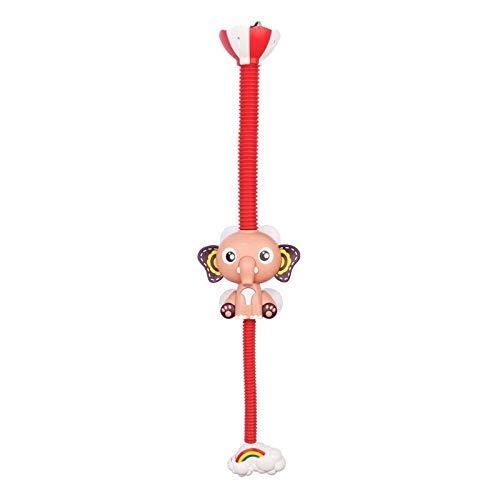 SYFO Juguete Lindo patrón de Elefante Grifo bebé Agua Juego Ducha Cabeza eléctrica Agua rociador Juguete para niños baño baño Juguetes (Color : Rosado)