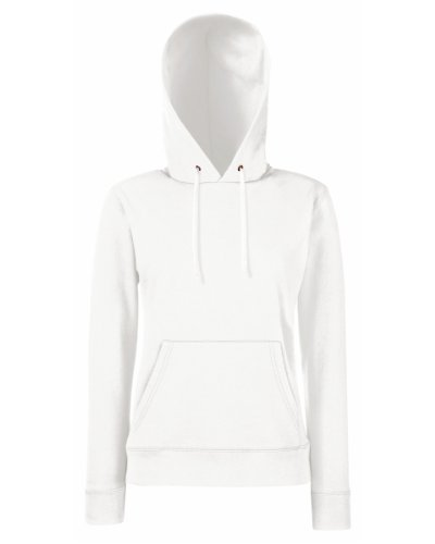 Fruit of the Loom Classic Hooded Sweat Lady-Fit - Farbe: White - Größe: S