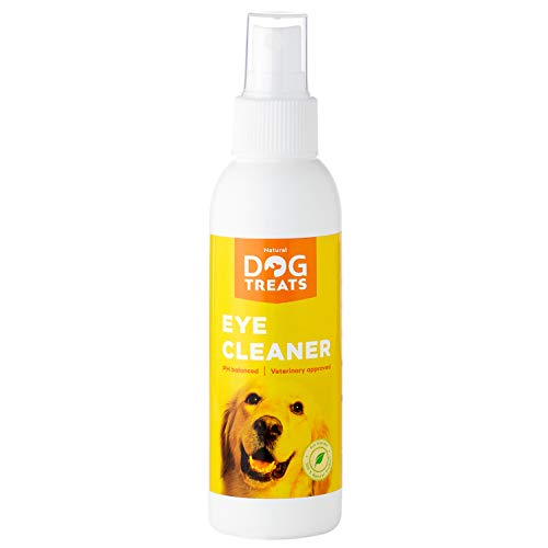 Natural Dog Treats Limpiador de Ojos para Perros y Gotas, Elimina Manchas y Legañas, Limpia e Hidrata los Ojos, Cuidado Ocular, 125 ml (4.2 oz)