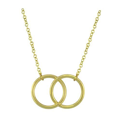 SoulSisters Lieblingsschmuck Halskette Geo ineinander verschlungene Ringe 18k vergoldet
