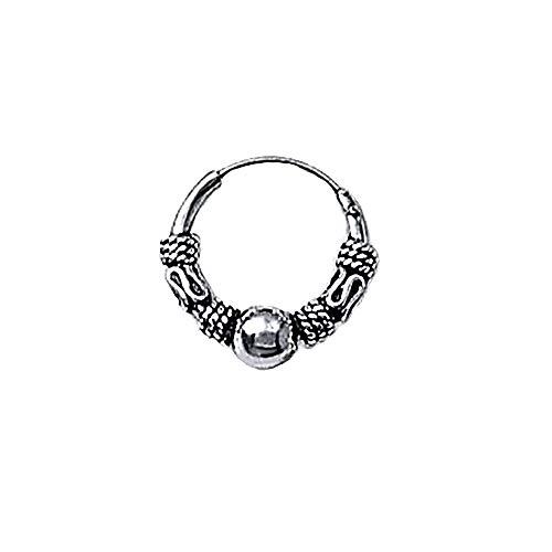 NKlaus 925 Silber Einzel Ohrring Keltische CREOLE Gothic Celtic Bali EINZEL 12mm 5038