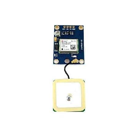 Paradisetronic.com Módulo GPS con NEO-6M y Antena de Cerámica para Arduino y Controlador de Vuelo, UART, compatible con u-blox