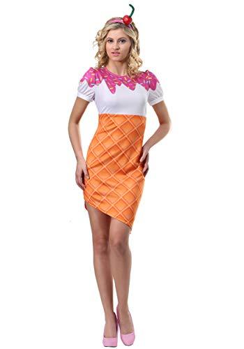 Fun Costumes Eiscreme-Kegel-Kostüm für Frauen - S