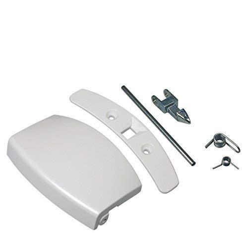 ORIGINAL Türgriff Tür Griff Bullauge Set komplett mit Schließnase weiß Waschmaschine Electrolux AEG 405508700
