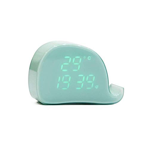 Bedside Clock, Adjustable Alarm Clock Bedside Alarm Clock For Family Bedroom, Children Alarm Clock, Small Mini Alarm Clock (Color : Green, Size : 121 * 85 * 37mm) HMP