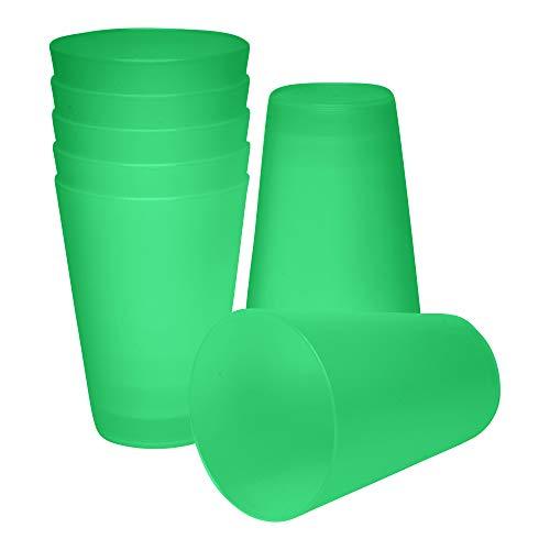 S&S-Shop 20 Plastik Trinkbecher 0,4 l - grün - Mehrwegtrinkbecher/Partybecher/Becher
