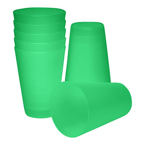 S&S-Shop 10 Plastik Trinkbecher 0,4 l - grün - Mehrwegtrinkbecher/Partybecher/Becher