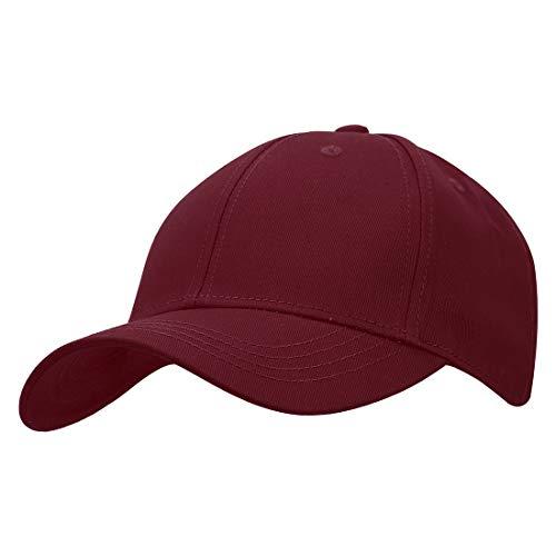 KeepSa Baumwolle Baseball Cap, Basecap Unisex Baseball Kappen, Baseball Mützen für Draussen, Sport oder auf Reisen - Reine Farbe Baseboard Baseballkappe Kappe, Mütze (Weinrot)