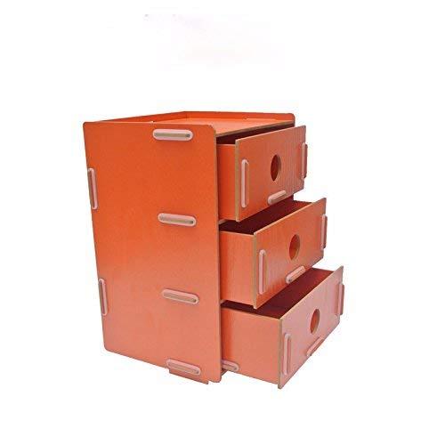 MWPO Vassoio per Organizer da scrivania a scaffale Multi-Strato per archiviazione di File per Ufficio, scaffali per File legnosi Scaffali per riviste da Tavolo per Desktop, Arancione 19x16x27 cm