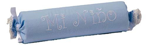 Coussin de soutien pour enfant forme de caramel. Couleur bleu.