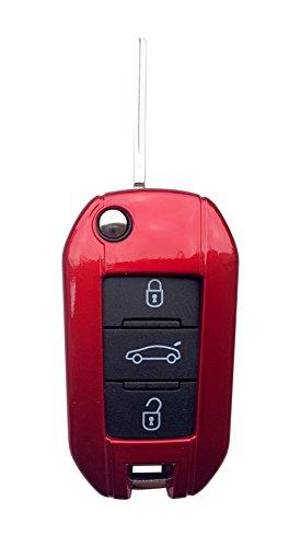 CK+ Peugeot ABS Auto-Schlüssel Hülle Key Cover Case Etui für 208 308 2008 3008 5008 - Rot